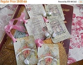 Cottage Chic Hang Tags - Favors - Gift wrapping