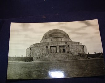 1930's Photo Postcard Chicago's Adler Planetarium Designed by Dankmar Adler