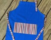 Kids apron, childrens apron, small apron, toddler apron, childs apron, cooking apron, play apron, art smock, bib apron, little apron, blue