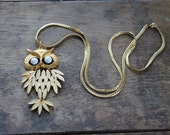 1970s Trifari Articulated Owl Necklace