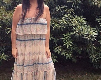 Strapless Floral Woodland Fairy Folk Dress M-XL