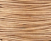 Leather-1mm Round Cord-Soft-Natural-10 Meter Spool