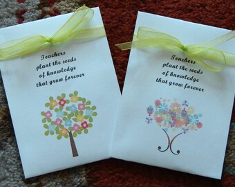 Customized Teacher Thank You Cornflower Seed Packets