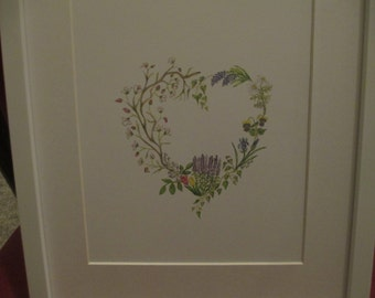 Spring Floral Heart Wall Print