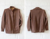HOLD Zip Up Wool Sweater M • Ribbed Sweater • Slouchy Sweater • Wool Sweater Coat • Knit Zip Up Jacket  | T377