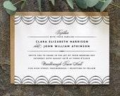 Modern Minimalist Wedding Invitation / 'Coco' Elegant Wedding Invite / Black and White / Custom Colours Available / ONE SAMPLE