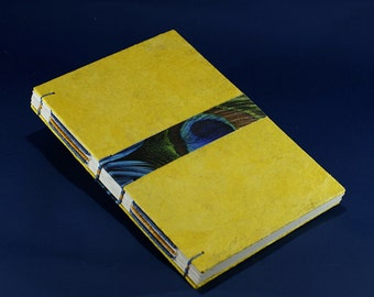 Yellow / colied binding handmade notebook