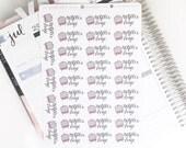 Netflix Binge Hand Drawn Planner Stickers, perfect for Erin Condren, Filofax, Kikki K, Happy Planner, Inkwell Press
