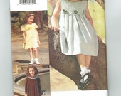 Pleated Dress - Childs Size 2-3-4 - Uncut Factory Folded Pattern - Vogue for Me Pattern