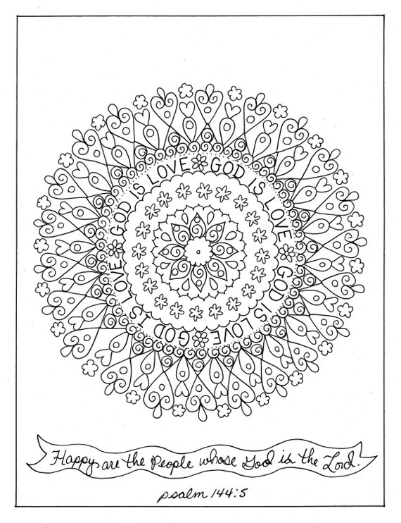 Religious mandala coloring pages on pinterest ~ Coloring Book Christian Scriptures To Color Mandalas Spiritual