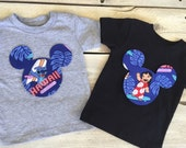 Lilo and Stitch Mickey Mouse Inspired Iron On Applique