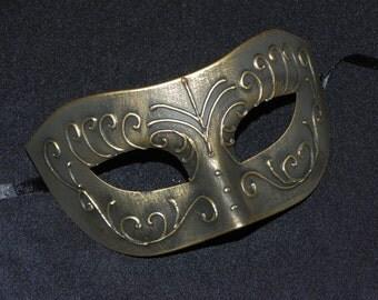 Antique Gold Venetian Mask - Halloween Mask