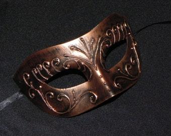 Bronze and Copper Venetian Mask - Halloween Mask