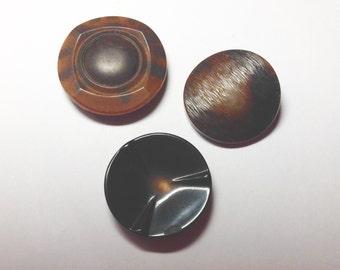 Brown vintage button lot