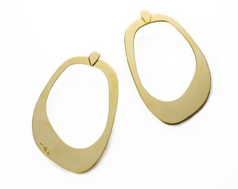 Big 24K gold plated earrings
