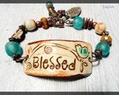Blessed Bracelet Cuff Artisan Made Boho Bracelet