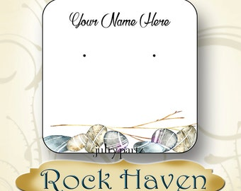 24-ROCK HAVEN•Necklace and Earring Cards•Jewelry cards•Necklace Card•Display•Earring Holder•Necklace Holder