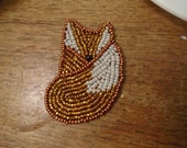 Sitting Fox Brooch