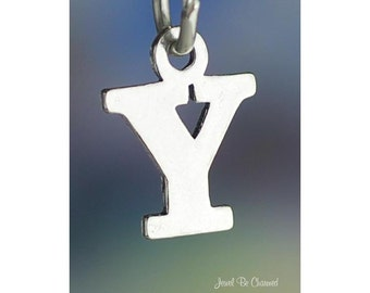 Sterling Silver Small Letter Y Charm Initial Capital Letters Solid 925