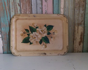 Vintage Toile Tray/ Painted Tray/Shabby Cottage Chic Tray