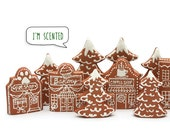 Iced Gingerbread Cookie Village