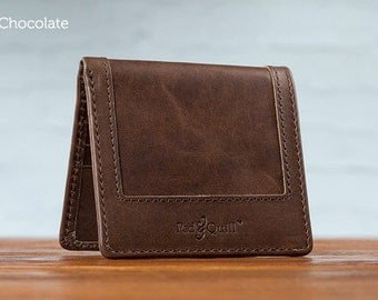 The Classic Uptown Mens Leather Wallet - Chocolate | Mens wallet,