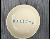 Valentine's day in stock ready to-ship handmade ceramic bowl darling bowl gift trinket dish