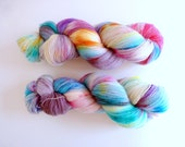 """BFL hand dyed lace yarn  - Superwash Bluefaced Leicester wool, Tea Time base - Colourway """"Universos infinitos"""""""