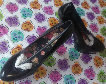 Patent leather heels for painting or bling or w spikes