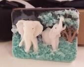 ELEPHANT SOAP BAR  - mothers day, gift for teens,  black soap white elephant, stocking stuffer for her, gift for mom