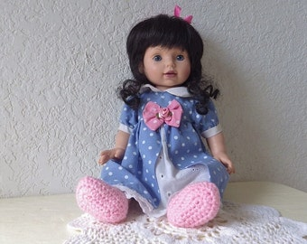 Baby So Beautiful Doll in original tagged outfit. Only produced from 1995 to 1996.  Vinyl, 14 inches.