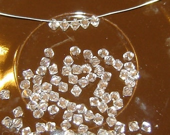 15 (6mm) CRYSTAL, Top Drilled Pendant, Machine Cut, Faceted Bicone Crystal, Czech Crystals, clear, crystal