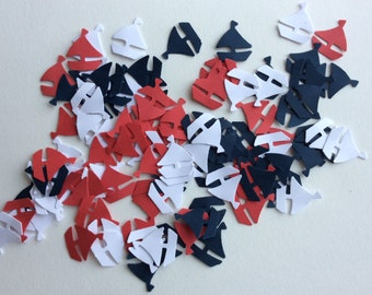 100 sailboats confetti- nautical theme /nautical baby shower embellishment Sailboat Table Confetti