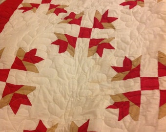 One of a kind feedsack quilt