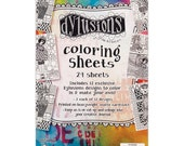 Ranger -  Dyan Reaveley Dylusions Coloring Sheets - 5in X 8in