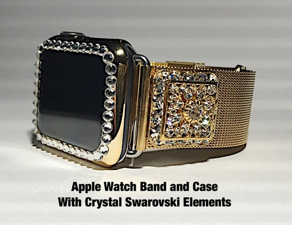 38mm or 42 mm Apple Watch Milanese Gold Band by