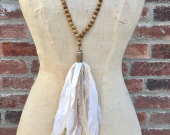 Sari Silk Bullet Tassel Necklace