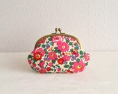 Liberty retro floral frame purse - betsy - magenta, pink, red
