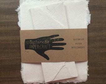 Stationary Sets - White Handmade Paper