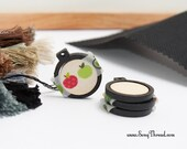 Black mini embroidery hoop 1 inch tiny miniature decorative earring pack