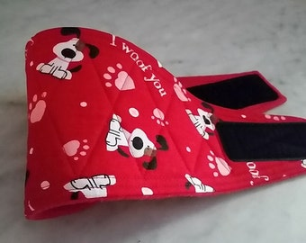 Male Dog Belly Bands Waist 11.00 x 3.00 Fits 09.00 to 13.00 inches Wraps by Sew Dog Diapers Quilted Padded Belt BellyBand  #91 I WOOF YOU