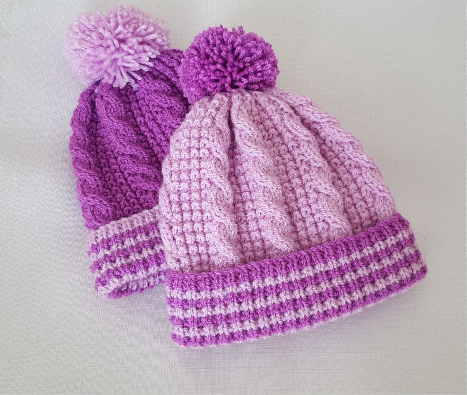 Knitting Patterns Baby Cable Hats : Baby Knitting Pattern Cable Baby Hat Download PDF