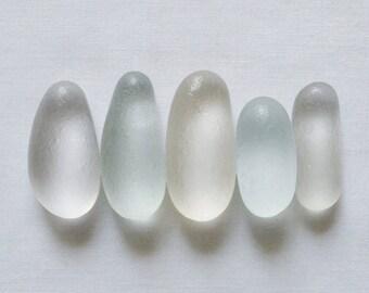 English Sea glass - Five Fingers - Lot DC808
