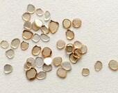Moissanite Diamonds, Moissanite Polki Diamonds, Loose Faceted Moissanite Flat Back, Champagne Moissanite, 2 CTW, 3-4 Pcs, 4-6mm