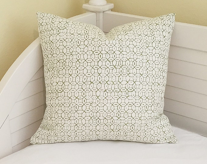 Quadrille China Seas Melong Batik on Both Sides Designer Pillow Cover - Square and Lumbar Sizes Available