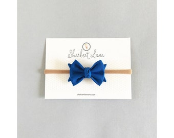 Baby Bow Headband - Classic Knot Bow - Royal