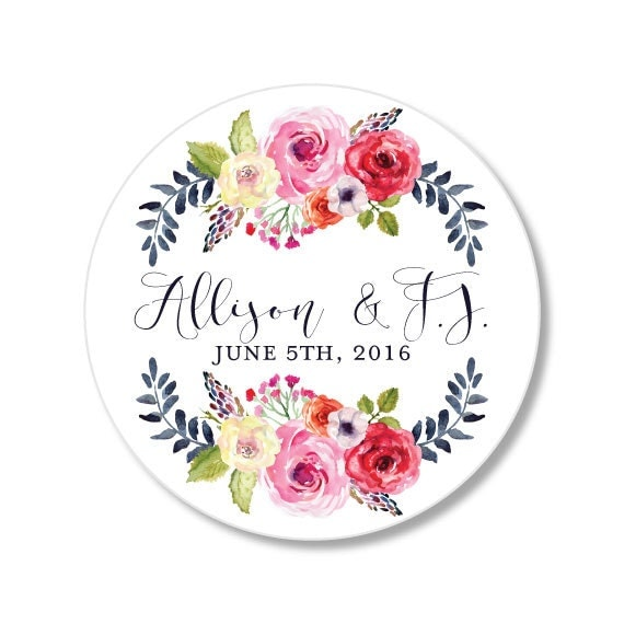 Wedding Sticker Wedding Favor Sticker Favor Sticker Bridal