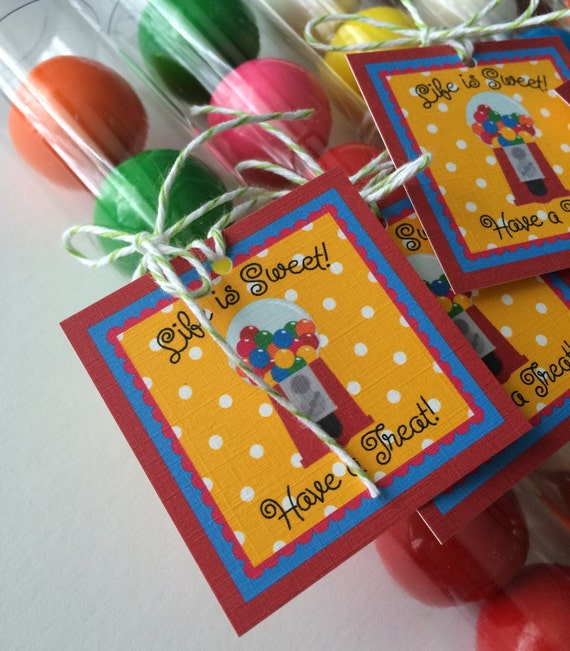 18th Birthday Birthday Party Favor Gumball Candy: Gumball Tube Gumball Party Favor Birthday Party Favors