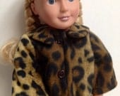 "Leopard Print Fleece Coat for 18"" Doll"