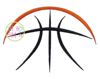 Half Basketball Embroidery Design,  Hoop Size(s) 4x4, 5x7 & 6x10 Instant Download